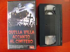 VHS.09) QUELLA VILLA ACCANTO AL CIMITERO - NUMBER ONE VIDEO