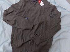 Mens IZOD Medium Gray V-Neck Sweater NEW MSRP $55.00 ~ Wool Blend