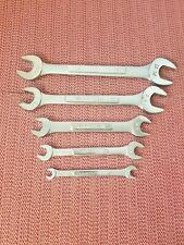 """VINTAGE 5 PC SET CRAFTSMAN """"VV""""  OPEN END WRENCHES 10 SIZES 13/16"""" TO 1/4"""" USA"""