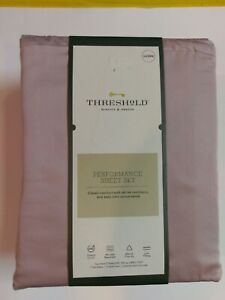Threshold Performance Marble Rose Queen Sheet Set 100% Cotton 400 Thread Count