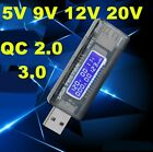LCD USB detector voltmeter ammeter power capacity tester meter voltage current