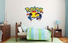 Pokemon Go Catch Them All Pokeball Pikachu Personalized Pokemon Wall Decal Decor