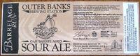SOUR ALE Beer STICKER LABEL, Outer Banks Brewing Kill Devil Hills NORTH CAROLINA