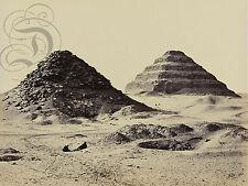 PLAQUE ALU REPRODUISANT UNE PHOTO FRANCIS FRITH PYRAMIDES SAKKARAH 1857 EGYPTE