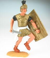 TIMPO TOYS - Römer laufend - gold, weißer Gürtel - mit Schwert + Schild - ROMAN