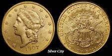 CH/GEM BU RANDOM COMMON DATE $20 LIBERTY HEAD GOLD UNITED STATES COIN