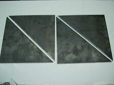 """QTY 10 STEEL  PLATES GUSSET 1/4"""" x 6"""" x 6""""  HOT ROLLED STEEL"""