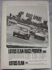 1964 Lotus Elan Original advert No.3