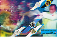 PUBLICITE ADVERTISING  1985   SWATCH  collection montres ( 2 pages)
