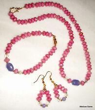 Gemstone Handmade Jade Costume Jewellery Sets