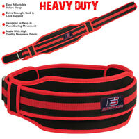 FS Weight Lifting Belt Back Support Gym Fitness Bodybuilding Training Red New