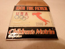 New! Italy Soccer Pin USA Olympics Children Motrin 2006 Ibuprofen Kick the Fever