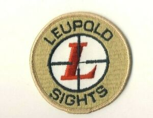 """Leupold Sights Sew On Patch 3"""" Advertising Round"""