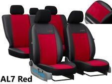 FORD TRANSIT CUSTOM DOUBLE CAB 2014-2020 LEATHER & ALICANTE TAILORED SEAT COVERS