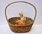 Antique Wicker and Wood Easter Basket