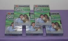 Lot of 5 Fujifilm 8 Hrs Standard High Quality T-160 Blank VHS Video Tapes - NEW