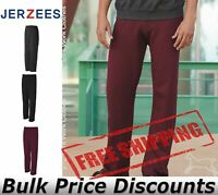 JERZEES Mens NuBlend Open Bottom Sweatpants with Pockets 974MPR up to 3XL