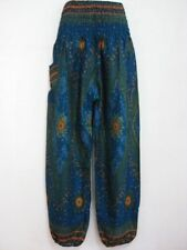 New Ladies Smock Harem Pants Bohemian Boho Hippie Aladdin Yoga Genie Trousers