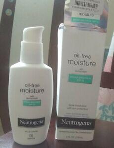 Neutrogena oil free moisture with sunscreen 4 fl oz broad spetrum SPF 15
