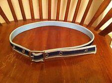 women's Abercrombie & Fitch woven cotton belt Light Blue Dark Green Pink Yellow