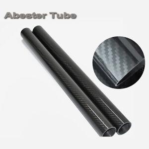 Long carbon Fiber tube 3k Matt 1m 50*46 Roll Wrapped 50MM OD x 46MM ID X 1000MM