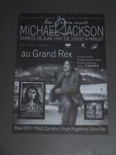AUTHENTIQUE FLYER MICHAEL JACKSON NEUF!!