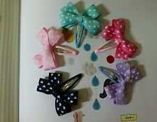 5pcs Petit Hair Bows Boutique Girls Baby Toddler  hair clip