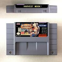 Harvest Moon Game Card US Version For Nintendo SNES 16 Bit Eng