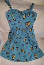 Disney Womens Beauty And The Beast Belle Retro Pin Up Dress Sundress L Large