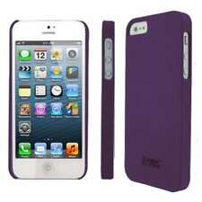 For iPhone SE 5S 5 Rough Durable Plastic Snap On Protective Case Cover Purple