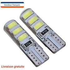 2 Veilleuses LED W5W T10 Silicone étanche BLANC XENON 6300k ampoule voiture