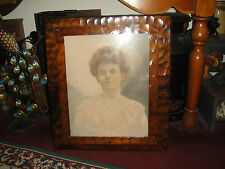 Antique Photograph Of Victorian Woman In Dress-Ghostly Image-Creepy Scary Woman