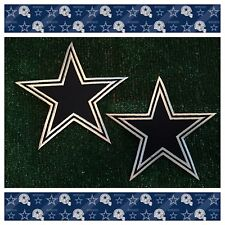 "Dallas Cowboys TX NFL Football Sew/Iron-on BIG 7"" Star Emblem Logo LOT 2 Patches"