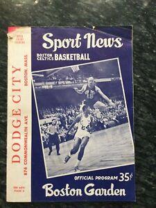 January 1961 Philadelphia Warriors @ Boston Celtics - Wilt vs. Bill Russell