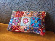 Purse Fair Trade Ethnic Gift Fab Clutch Bag Make Up Evening Zip Jewels Sequins