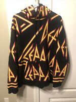 Def Leppard Official Concert Pocketed Hoodie Size Large Awesome!!!