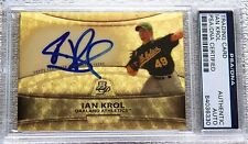 Ian Krol 2010 Bowman Platinum Auto Superfractor Proof Card PSA/DNA COA