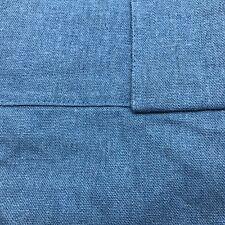 "New Threshold Blue Textured Weave Light-Filtering Curtain Linen Panel 56"" x 84"""