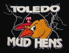 TOLEDO MUD HENS longsleeves T shirt Detroit Tigers youth lrg lightning tee 2004