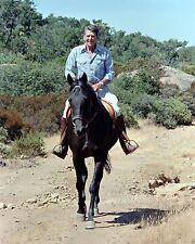 President Ronald Reagan horseback riding at California ranch New 8x10 Photo