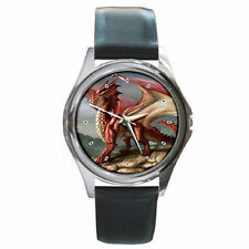 dungeons and dragon Kid's mens womens unisex leather wrist watch