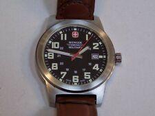 Wenger Swiss Military 7290XZ Men's Black Dial Quartz Field Watch 41mm Stainless