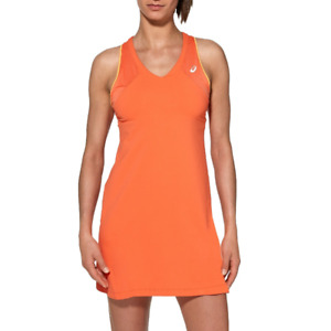 Asics Tennis Dress Women's Sports Wear Athlete Tennis Dress - Orange - New