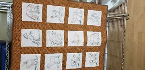 Handmade embroidered baby quilt /Cross stitch blanket
