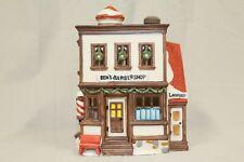 """Department 56: Heritage Village: New England Village: """"Ben's Barber Shop"""" 5939-0"""