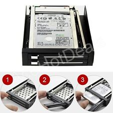 "2.5"" Hard Disk 2-Bay SATA Serial ATA Internal Hot swap Enclosure Mobile Rack"