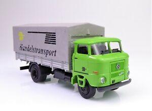 H0 BUSCH IFA W 50 L Speditionspritsche Plane Sp Handelstransport DDR VEB # 95133