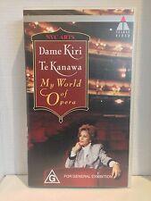 DAME KIRI TE KANAWA~ MY WORLD OF OPERA~ AS NEW RARE VIDEO
