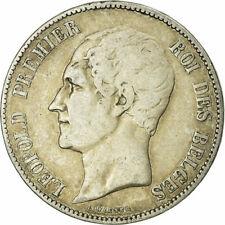 [#724766] Monnaie, Belgique, Leopold I, 5 Francs, 5 Frank, 1849, TB, Argent