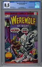 Werewolf by Night #32 CGC 8.5  1st MOON KNIGHT WHITE PAGES 🔥